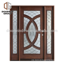 Puerta principal holandesa delantera de madera del último diseño de la puerta de entrada principal moderna para el chalet