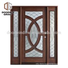 Install easily exterior door decorative top exterior solid glass door panels with solid wood
