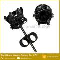 5mm, 6mm, 6 Klauen Zinke Einstellung Runde Zirkon Ohrringe