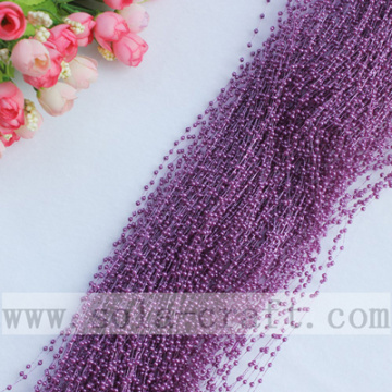 Top Selling Red Purple Plastic Wire Pearl String Beaded Garland Online