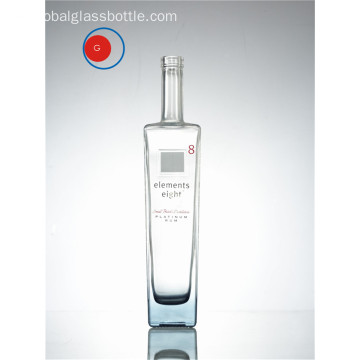 Platinum Rum Glasflasche Element 8