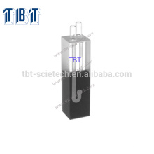 Quartz Glass Q-69 Quartz Glass 20mm Path Length Flow Cell