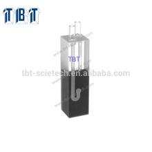 Vidro de quartzo Q-69 Célula de fluxo de comprimento de caminho de 20mm