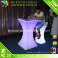 Table de cocktail LED de meubles de bar avec chaise