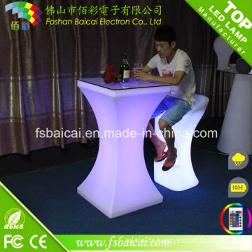 Bar Furniture LED Cocktail Table with Chair