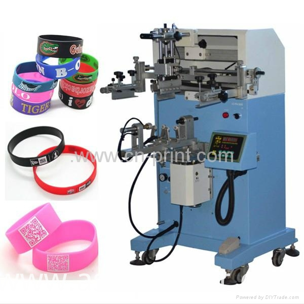 Glass Bottle and Wrist Strap Cylinder Screen Printer