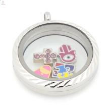 Nuevo encanto del diseño medallón mezclado, encanto flotante medallón fabricantes
