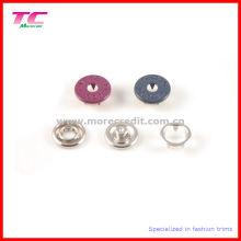 Colorido Prong Snap botón de metal para la ropa
