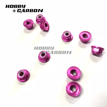 Cangkerang Aluminium Alloy Alloy Anodized Serrated Nuts