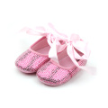 Latest Shoes Design Sequins Baby Shoes for Little Girls