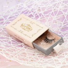 5D Super Fluffy Vegan Mink Faux Lashes With Sliding Cardboard Eyelashes Branding Box For Drop Shipping Wispy Than 3D 5DS