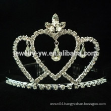 wedding hair accessories full crystal crown shape bridal headband