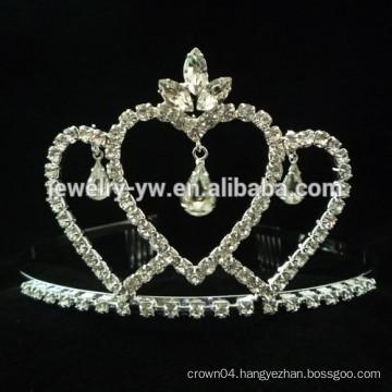wedding hair accessories full crystal crown shape bridal headband