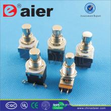 Daier 3pdt bouton-poussoir électrique 6pins interrupteur à pédale