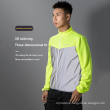 High-Visibility Cycling Jersey Reflective Safety Cycling Jersey