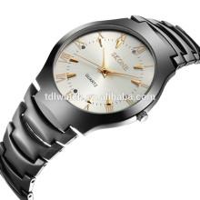 7133 IP gun metal stainless steel back quartz couple watches