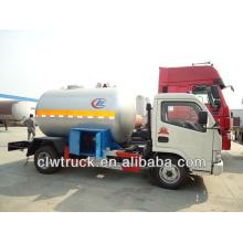 DFAC 4x2 mini lpg, 5,5 m3 lpg camión cisterna