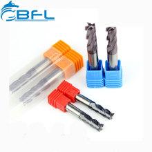 Fraises en bout plates de 12 mm de carbure monobloc BFL D12 * FL30 * 75L * 4F