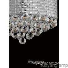 Luxury Crystal Polished Iron G9 Pendant  Lamp