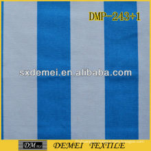 poly cotton blue and white canvas fabric striped