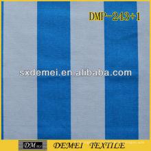поли-хлопка синий и белый холст ткань в полоску