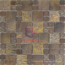 Roughness Surface Copper Metal Mosaic Wall Tile (CFM958)