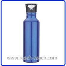 750 мл спорта алюминиевая бутылка воды с соломой (R-4052)