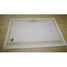 Anti-counterfeiting custom invisible  watermark paper  /ticket/card printing