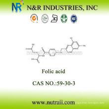 Materia prima Ácido fólico precio en polvo Vitamina B9 CAS: 59-30-3