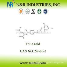 Raw material Folic Acid powder price Vitamine B9 CAS: 59-30-3