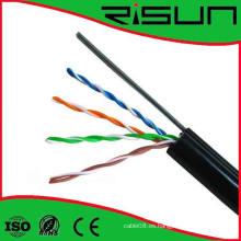 Cable vendedor caliente de UTP Cat5e con el cableado aéreo del mensajero de acero