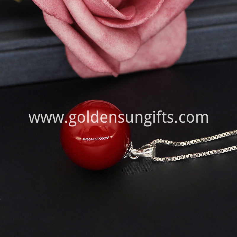Red Shell Pearl Pendant