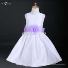 FG32 Lilac Sash Flower Dresses For Girl Of 5 7 Years Old For Weddings