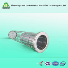 stainless steel dust filter bag cage with venturi