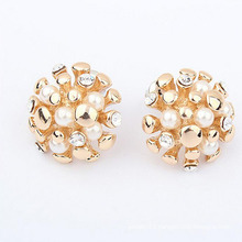 24 k Gold plating Fashion Jewelry Earring, Pearl Earrings