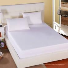 Hotel / Hostipal Todo el tamaño 100% algodón Plain Hoja cabida blanca (WSFI-2016009)