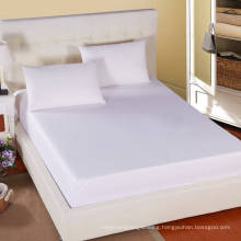 Hotel/Hostipal All Size 100% Cotton Plain White Fitted Sheet (WSFI-2016009)