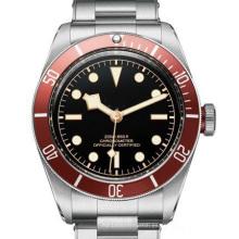 Tudorrrr Brand Limited Automatic Movment Marca de Acero Inoxidable Negro Big Dial 40mm Mens Sport Reloj de pulsera R Relojes