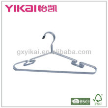 Set of 3pcs chrome plated metal shirt hangers with notches