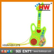 Hot Sale B/O Children Plastic Toy Cartoon Musical Instruments children guitar
