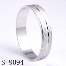 Bague de mariage en argent brillant et élégante 925 (S-9094)