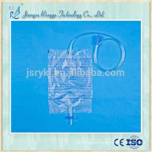 2000ml high quality disposable medical adult plastic urine bag