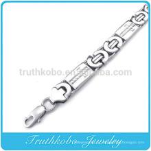 ТКБ-RN0036 никогда не увядает нержавеющей стали 316L Evergleam коренастый цепи браслеты для мужчин ожерелье
