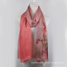 Digital Printed Silk Shawl (13-BR110303-4)