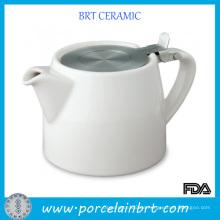 Hot Sale Custom Keramik Teekanne mit rostfreiem Aufguss
