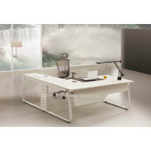 Fashion L Shape White Manager Director Office Table (HF-YZ0061)