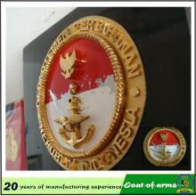 Emblema da fábrica 3D do emblema da fábrica do emblema da profissão para a parede