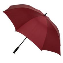 Guarda-chuva de golfe vermelho aberto manual (js-033)
