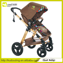Cool Baby Manufacturer Stroller Baby Adjustable Backrest Footrest Reversible Seat Air inflated Swivel Wheels with Suspension