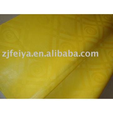 Damasco Shadda Bazin Riche Guinea Brocade tela stock venta de moda tela africana 100% algodón color amarillo nuevos diseños